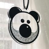 Beardy Bear Acrylic Charm
