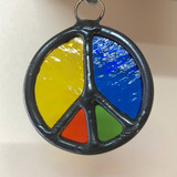 Stained Glass Peace Sign 214