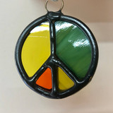 Stained Glass Peace Sign 215