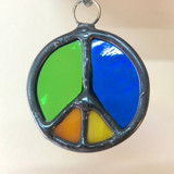 Stained Glass Peace Sign 218