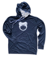 Beardy Bear in Mask Hooded Pullover