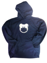 Beardy Bear in Mask Navy Hoodie