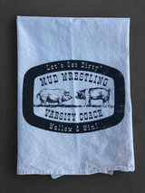Mud Wrestling Kitchen Towel