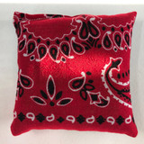 Bandanna Balsam Fir Pillow (Red/Black)