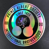 Prince Albert Society Holographic Sticker