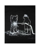 Fire Bears Print
