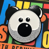 Beardy Bear Enamel Pin 2