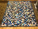 Blue Patchwork Quilt 1
