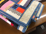 Rail Fence Style Mixed Fabrics Quilt - King Size