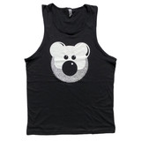 Beardy Bear Black Tank