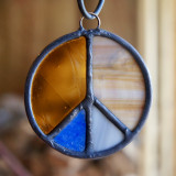 Stained Glass Peace Sign 16