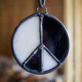 Stained Glass Peace Sign 18