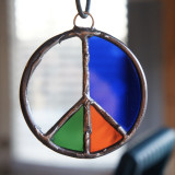 Stained Glass Peace Sign 68