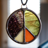 Stained Glass Peace Sign 70