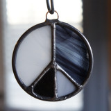 Stained Glass Peace Sign 72