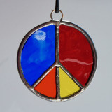 Stained Glass Peace Sign 80