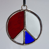 Stained Glass Peace Sign 81