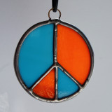Stained Glass Peace Sign 102