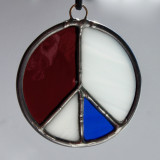 Stained Glass Peace Sign 111