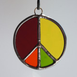 Stained Glass Peace Sign 120