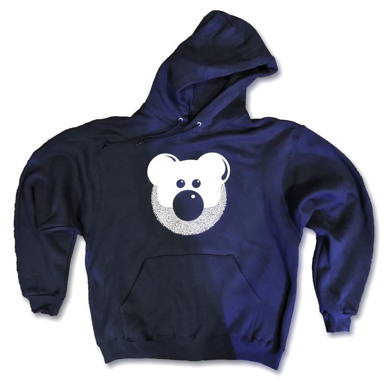BEARDY BEAR WHITE (HOODIE)