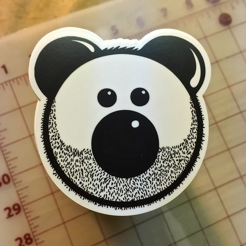 BEARDY BEAR STICKERS
