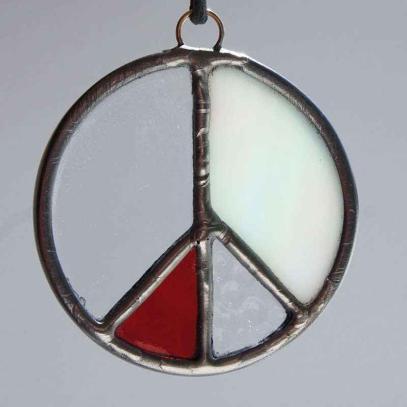Stained Glass Peace Sign 87