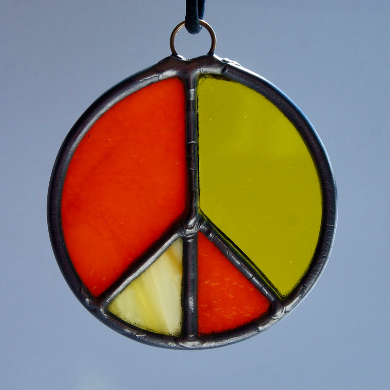 Stained Glass Peace Sign 114