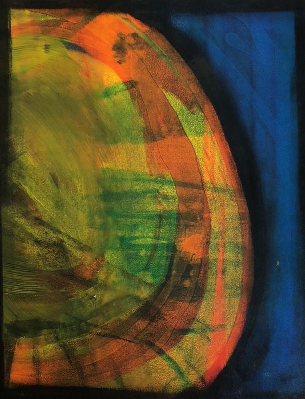 Abstract screen print 014