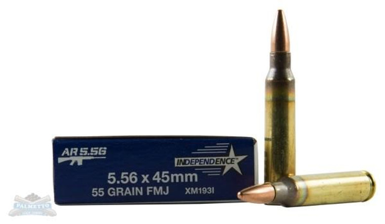 Federal XM193I 5.56mm 55gr FMJ Bullets - (20/box) - 029465063917