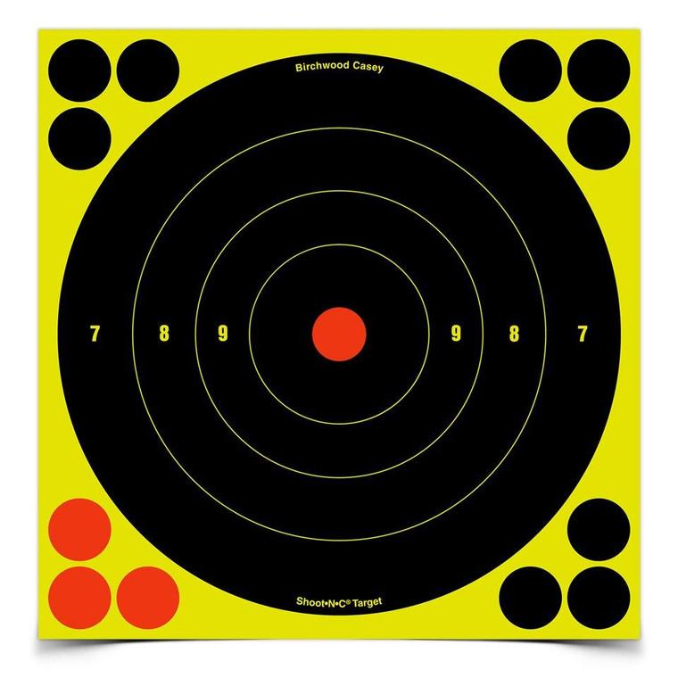 "Birchwood Casey 34825 Shoot-N-C 8"" Bulls'-Eye Round Target - 029057348255"