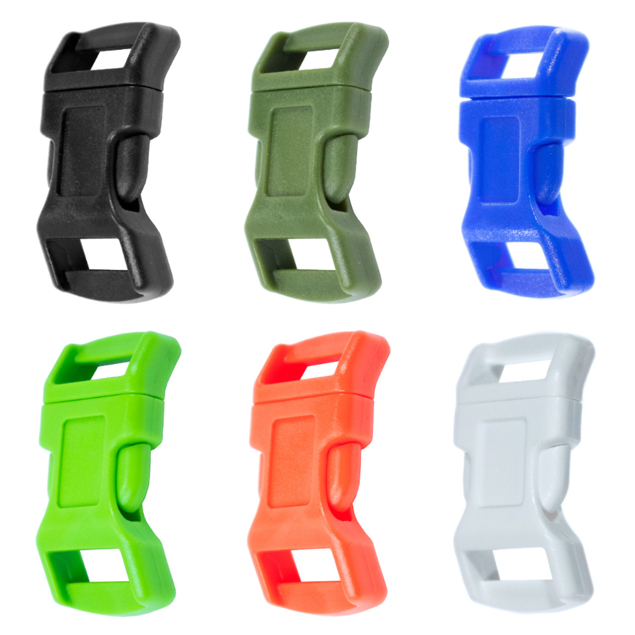 10-1//2 Inch Blue Economy Contoured Side Release Plastic Buckles
