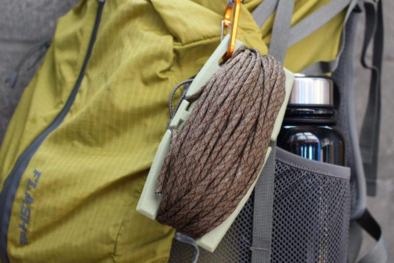 Tactical Rope Tool on a backpack