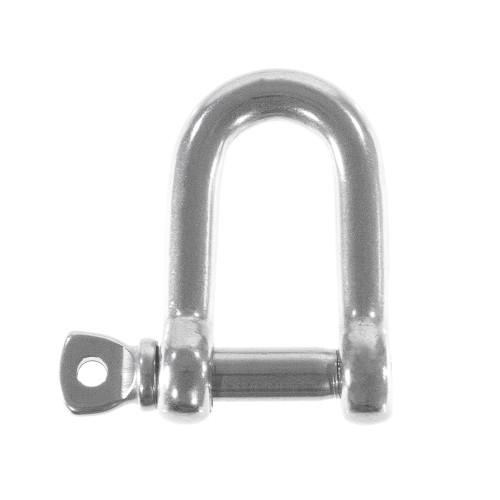 CooBigo 10pcs Stainless Steel Bow Anchor Shackle D Shackle Screw Pin M5 Paracord Bracelet DIY Survival Travel Kits#FLQ039A//FLQ044A