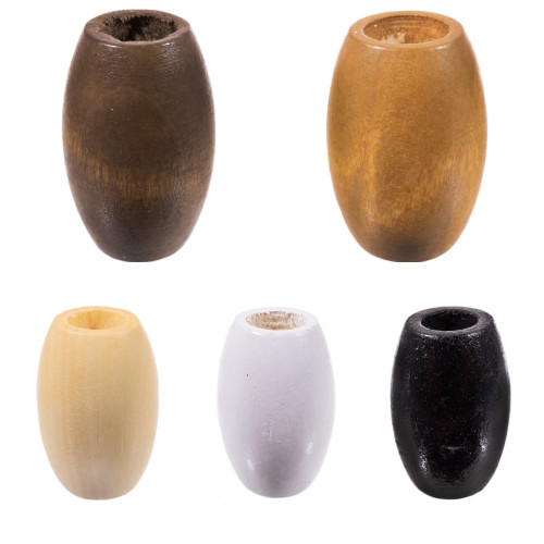 4mm x 6mm Natural Oval Wood Bead #DXE006