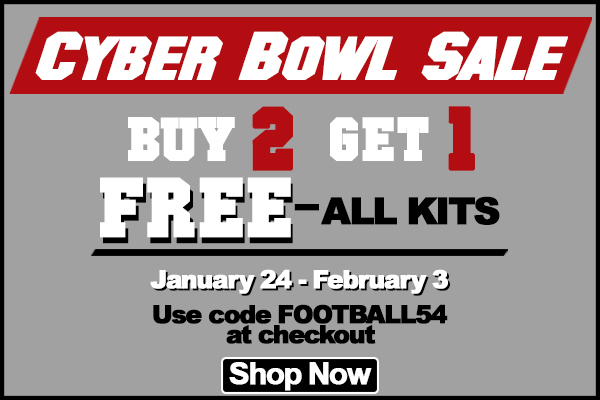 Buy 2 Get 1 Free Kits on all kits using code FOOTBALL54