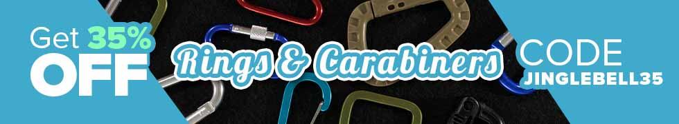Take 35% off Rings & Carabiners using code JINGLEBELL35