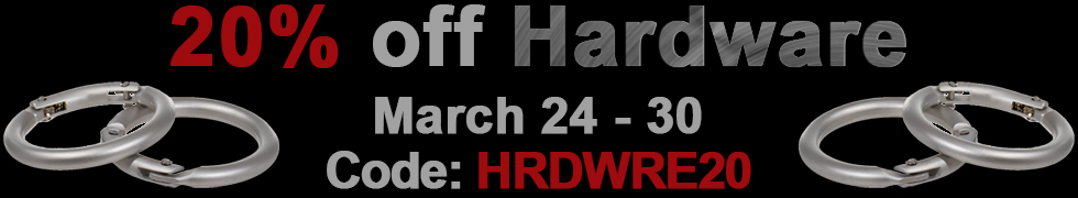 Take 20% off All Hardware using code HRDWRE20