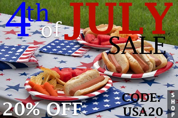 Take 20% off all products in our 4th of July collection!