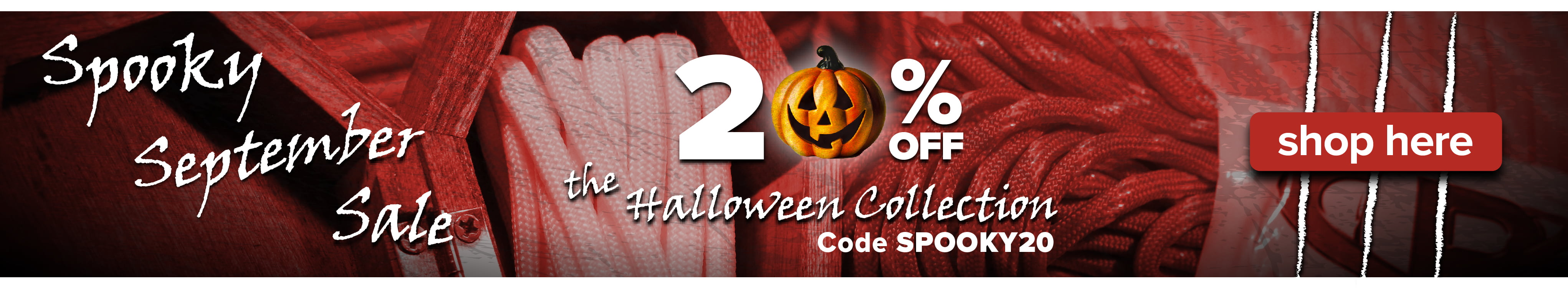 Take 20% off the Halloween Collection for Spooky September