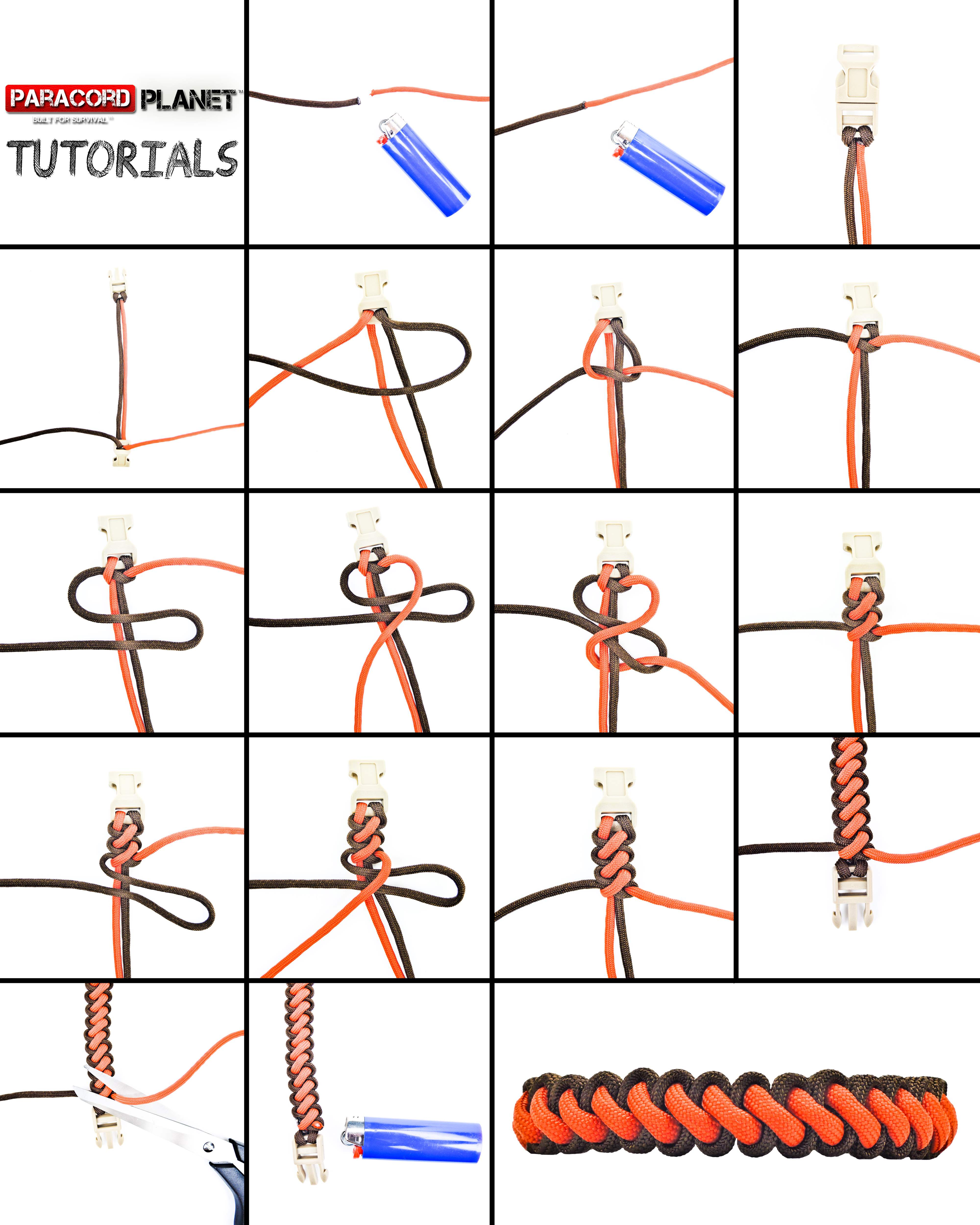 Paracord Curling Millipede Bracelet Photo Tutorial
