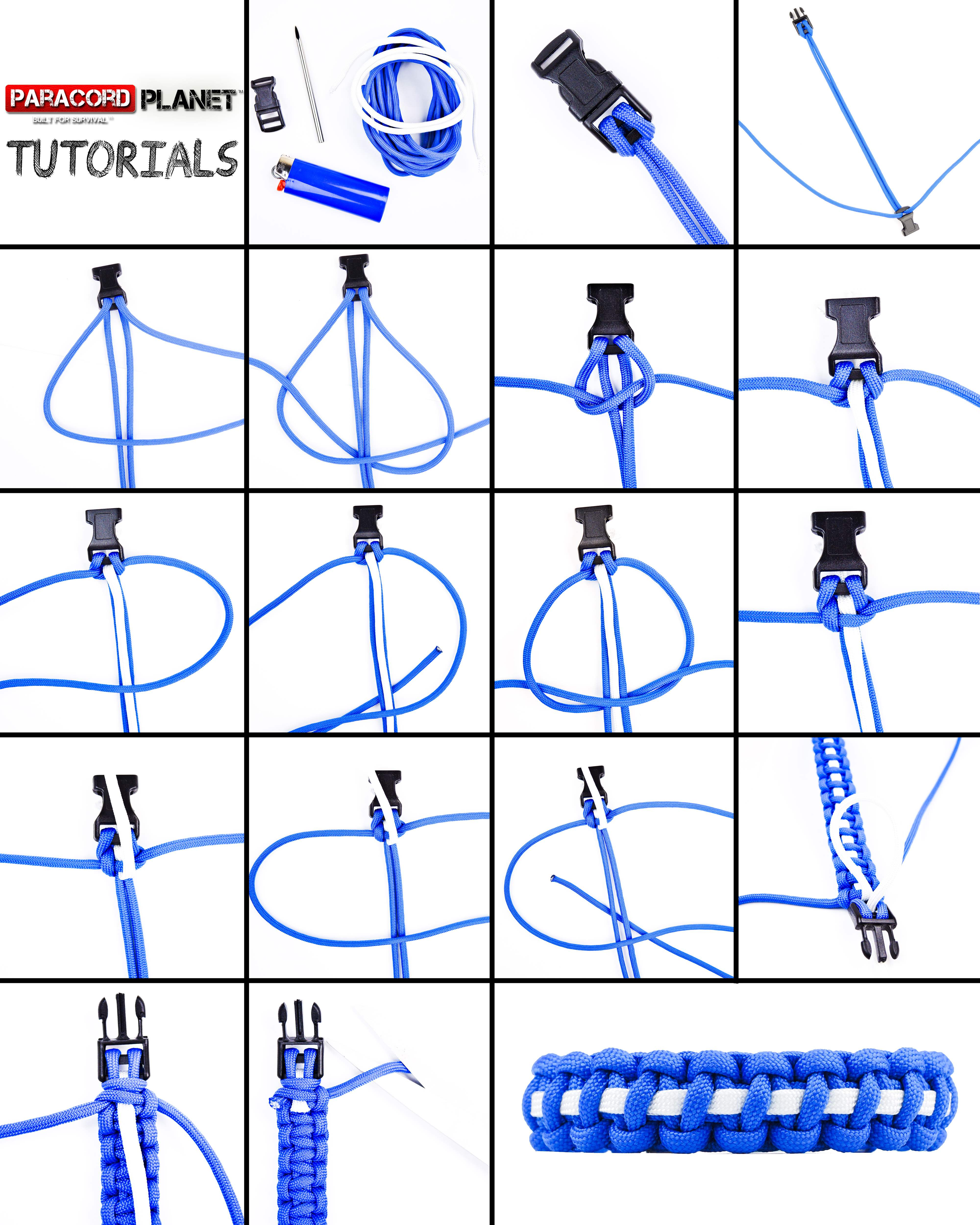 Paracord EMS Cobra Bracelet Photo Tutorial