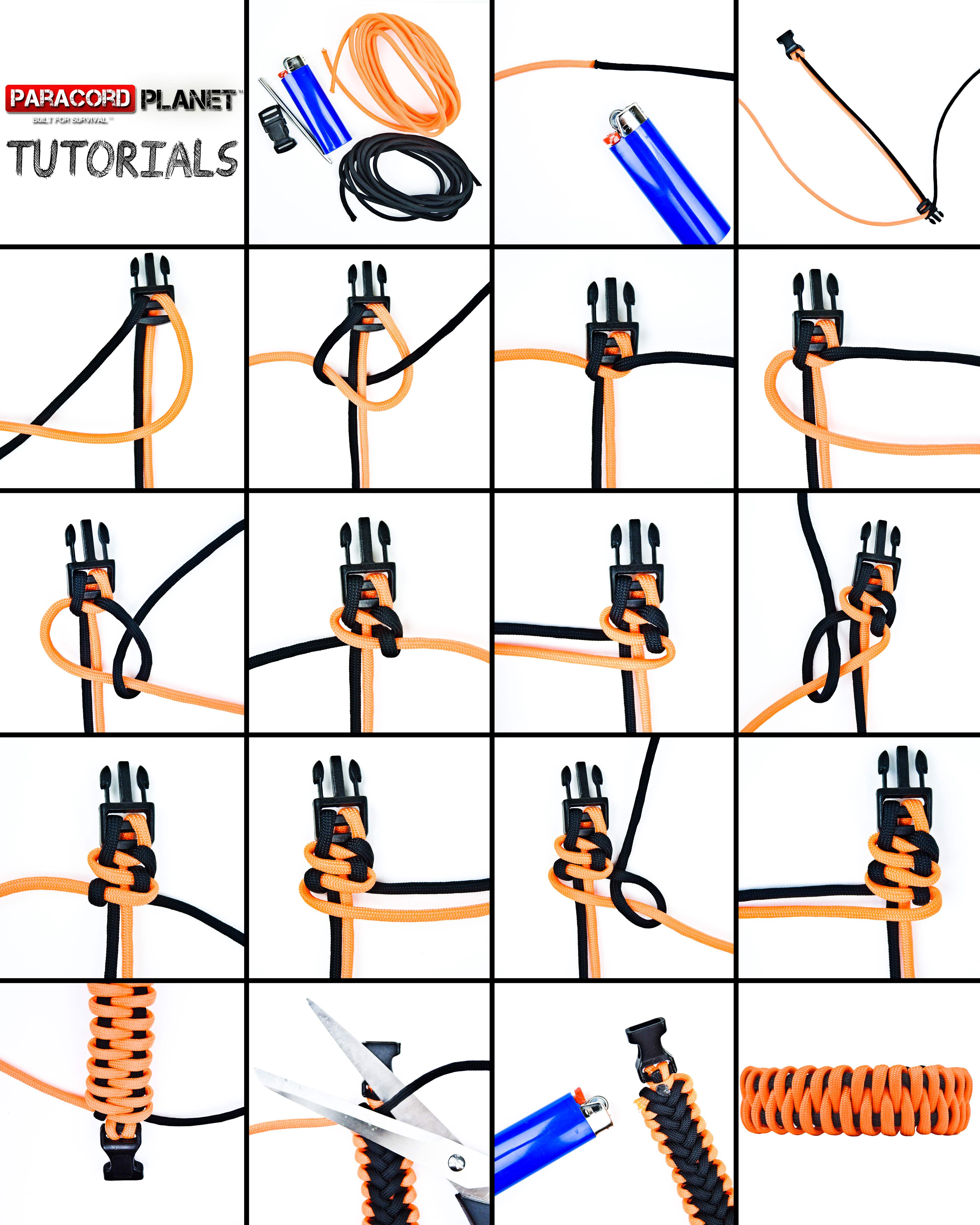 Paracord Slithering Snake Bracelet photo tutorial