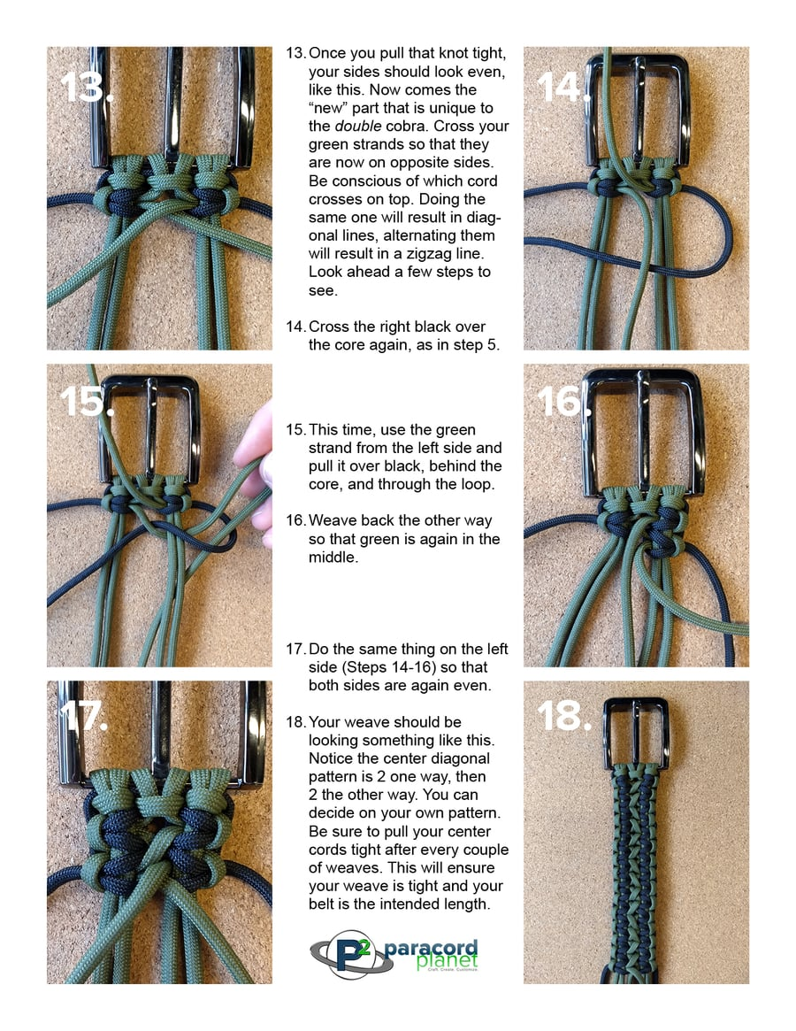 Paracord Belt Tutorial-Double Cobra Weave