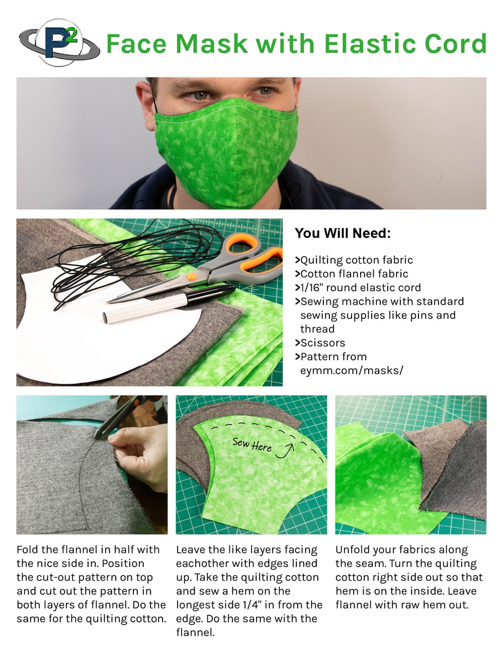Face Mask With Elastic Cord