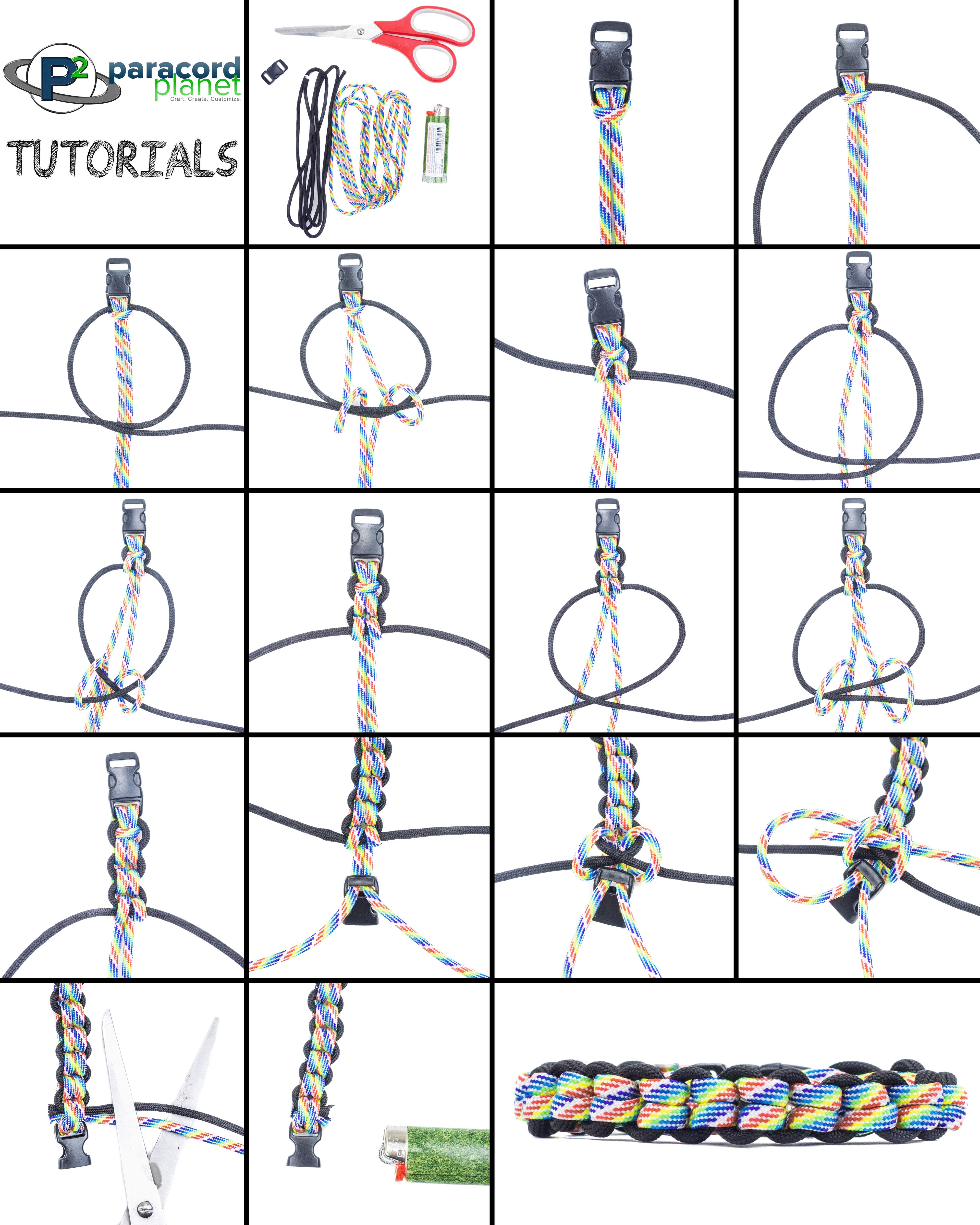 Endless Fall paracord bracelet picture tutorial