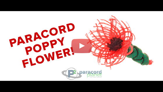 Paracord Poppy Flower Tutorial