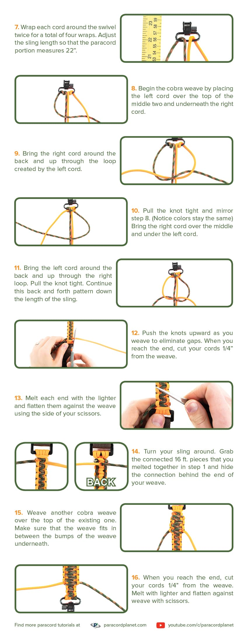 Paracord sling tutorial page 2