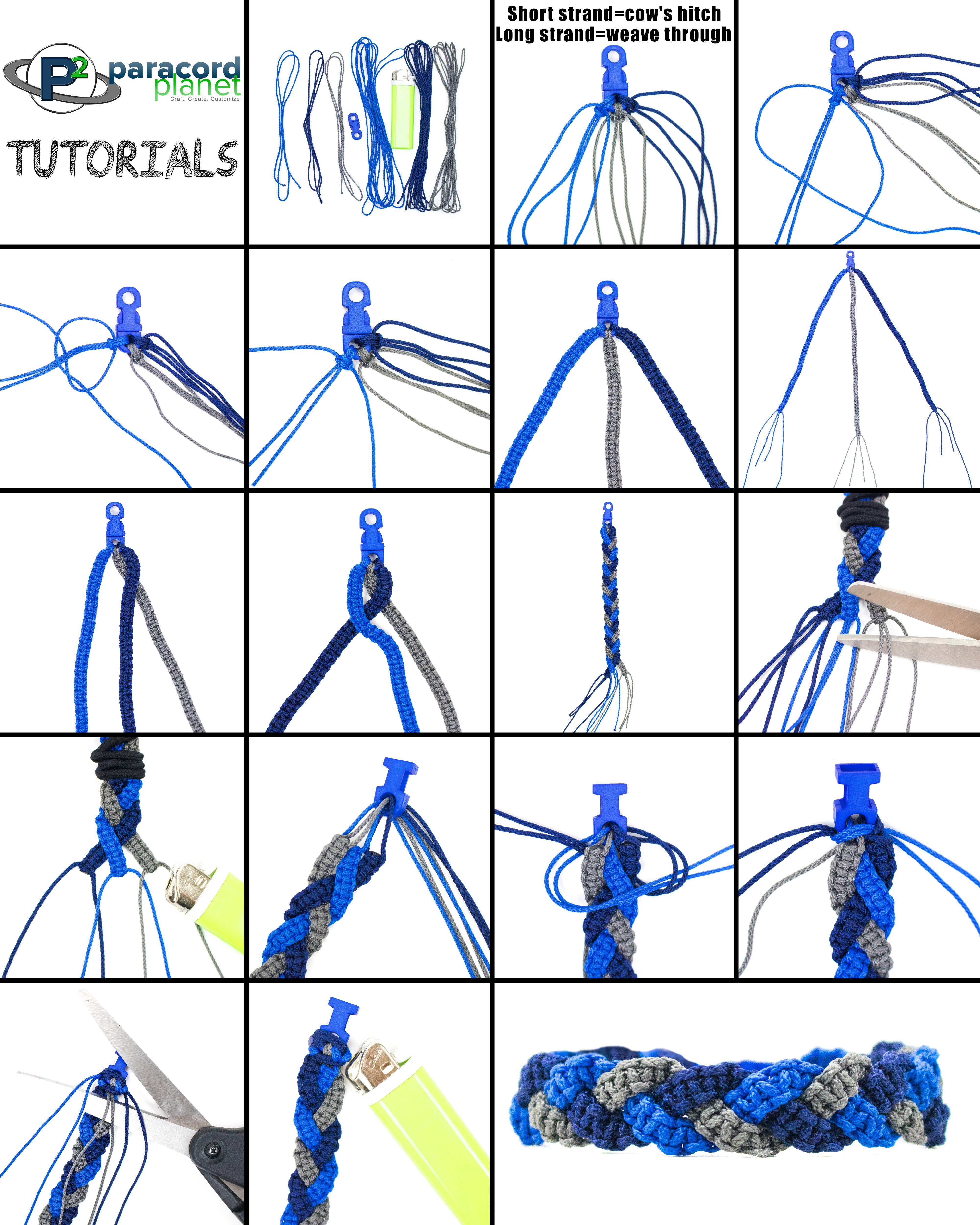Paracord Tri Cobra Braid Bracelet Photo Tutorial