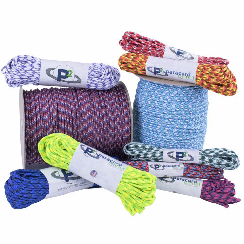 Paracord Planet 550 Cord Type III 7 Strand Paracord 50 Foot Hank Chocolate Brown